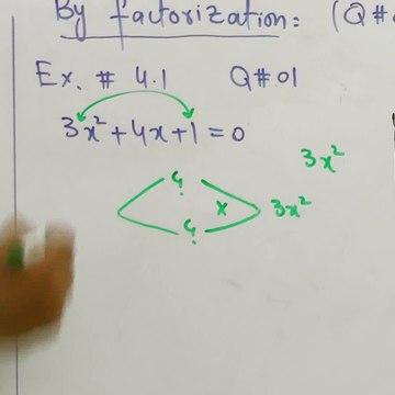 Lecture#02_Ch#04_Factorization