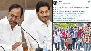 Cancel Exams : Telangana, Andhra Students Demand Cancellation Of Exams
