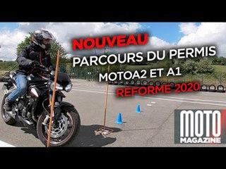 NOUVEAU PERMIS MOTO A2 et A1 2020 - Le parcours d'examen plateau