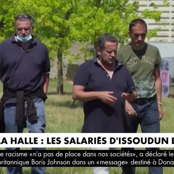 """Les salariés de l'enseigne de vêtements La Halle, placée en redressement judiciaire, sont en colère: """"On est dégoutés !"""" - VIDEO"""