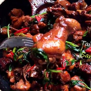 SanBeiJi - Taiwan Three Cup Chicken Recipe 台湾三杯鸡秘方