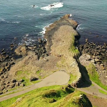 Giant's Causeway: Northern Ireland's best-known natural wonder seen from above