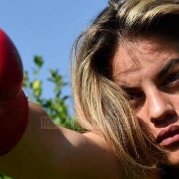 Një maturante boksiere/ 18 vjeçarja nga Vlora që nuk e ka lënë stërvitjen në muajt e pandemisë