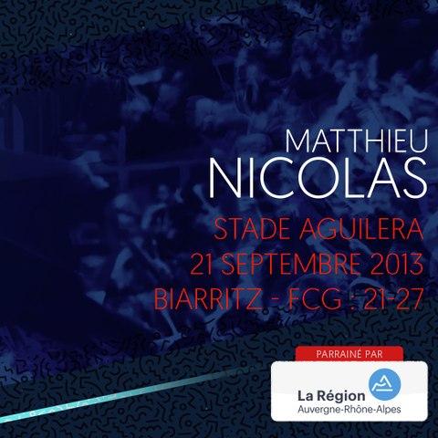 Video : Video - L'essai de Matthieu Nicolas à Biarritz en 2013