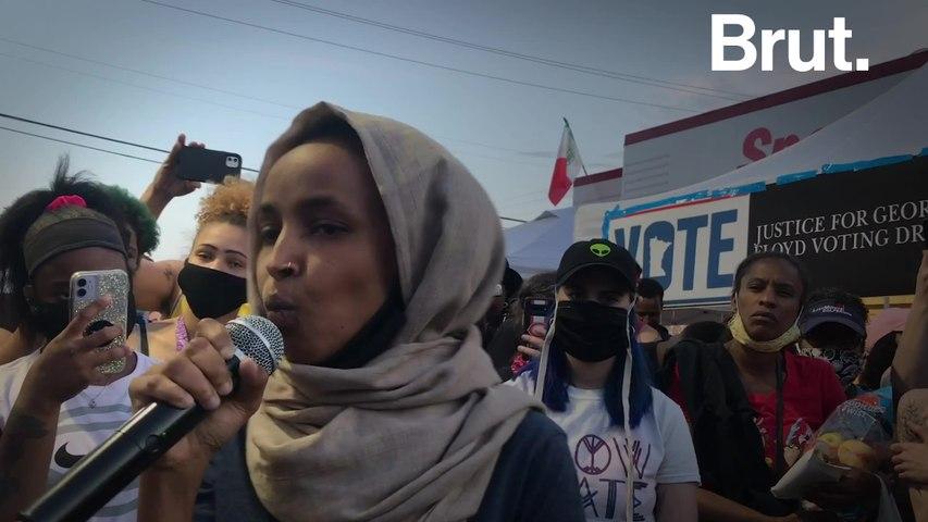 Brut exclusive: Ilhan Omar's speech at the George Floyd memorial