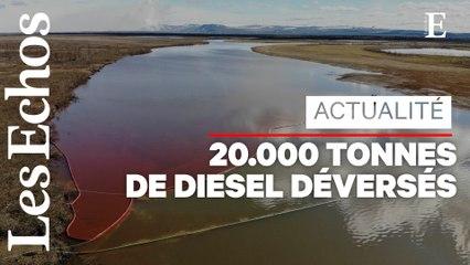 Arctique : une fuite de diesel provoque une gigantesque marée rouge