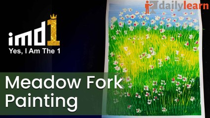 Meadow fork painting