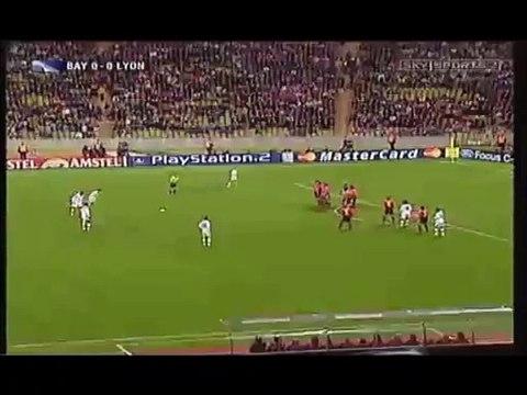 Le magnifique coup franc de Juninho contre le Bayern Munich