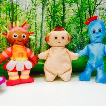 Iggle Piggle, Makka Pakka and Upsy a Daisy In The Night Garden-