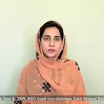 Banuk Karima Baloch Exclusive on 8 June Baloch Missing Persons Day & Abduction f Zakir Majeed Baloch