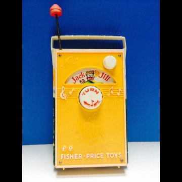 Vintage Fisher Price Music Box Jack and Jill Radio
