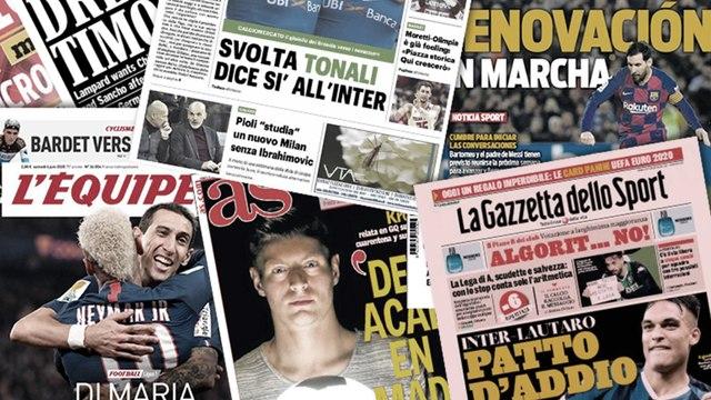 Le FC Barcelone lance les grandes manoeuvres pour prolonger Lionel Messi, l'Inter proche d'enrôler une pépite italienne