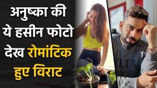 Anushka Sharma's Hubby Virat Kohli Romantic Reaction on Wife 'Workout Look'   FilmiBeat