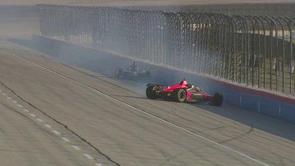Accidente de Alex Palou y Rinus VeeKay  en la carrera de Texas de Indycar