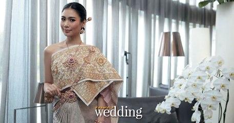 เบื้องหลังแฟชั่นชุดไทย นิ้ง - โศภิดา กาญจนรินทร์ มิสยูนิเวิร์สไทยแลนด์ 2018 - นิตยสารแพรว wedding
