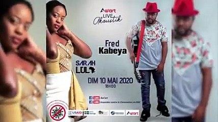 #RDCEnsembleContreCOVID19, Aw'Art a organisé un concert en ligne de Fred Kabeya et Sarah Lula, deux des artistes ayant participé à la création de la chanson Tokolonga Corona ('nous allons nous défaire du coronavirus' en lingala)