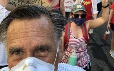 Mitt Romney Marches in Washington D.C. Protest