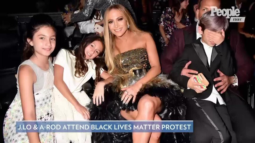 Jennifer Lopez & Alex Rodriguez Attend Black Lives Matter Protest in L.A.: 'We Are Proud to Join'