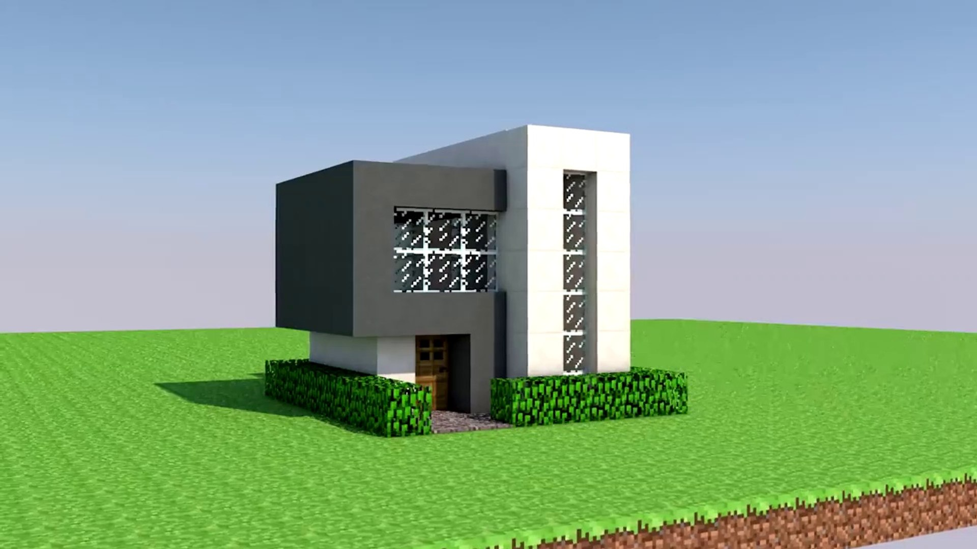 Minecraft How To Build A Easy Small Modern House Minecraft House Tutorial Minecraft Modern House Video Dailymotion