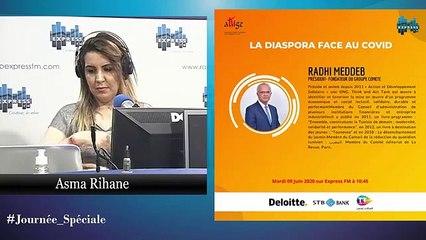 Radhi MEDDEB parle de la diaspora tunisienne: Express FM le 9-06-2020