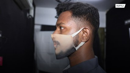 Vai virar moda! Estúdio na Índia faz máscaras com o rosto da pessoa impresso