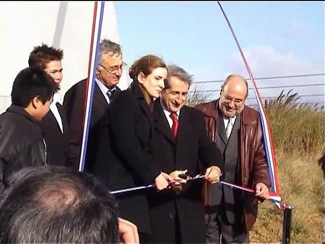 "Inauguration de la sculpture ""Aérotrain"" de Georges Saulterre"