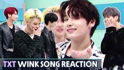 [AFTER SCHOOL CLUB] TOMORROW X TOGETHER's wink song reaction (투모로우바이투게더의 윙크송 리액션캠)
