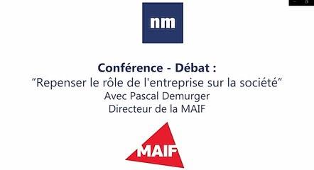 """Conférence - débat : """"Repenser le rôle de l'entreprise sur la société"""""""