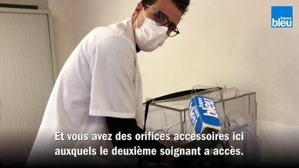 """La """"boîte à patient"""" du CH de Lens pour protéger les soignants"""