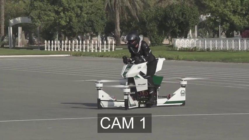 Son vol test en hoverbike ne se passe pas comme prévu
