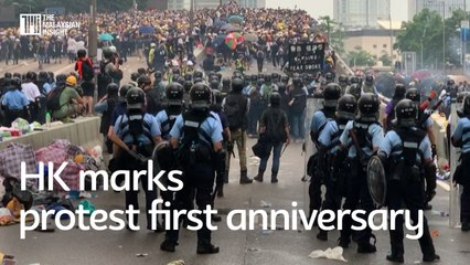 Anti-government protest in Hong Kong marks first anniversary