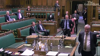 How MPs joined kilometre-long queue in a vote to end virtual parliament – video