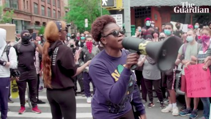 Inside the George Floyd protests in New York: 'we are not the problem' – video