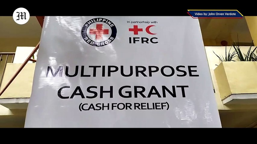 Philippine Red Cross conducts COVID19 Emergency Response Cash relief Distribution at Addition Hills, Mandaluyong City