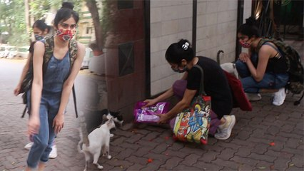 Adah Sharma Steps Out To Feed Stray Animals