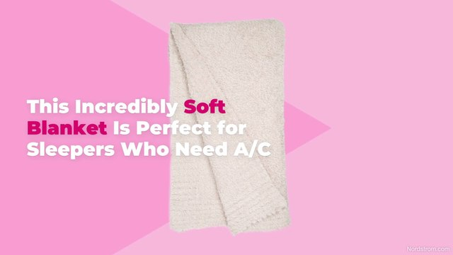 This Incredibly Soft Blanket Is Perfect for Sleepers Who Need A/C