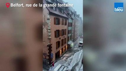 VIDÉO - Les images de l'orage de grêle sur la Vieille Ville de Belfort