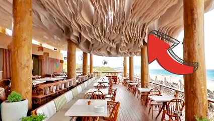 How a 'wave ceiling' keeps this outdoor restaurant cool