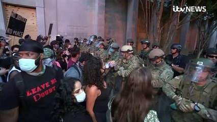 US military on frontline of racial conflict as protest
