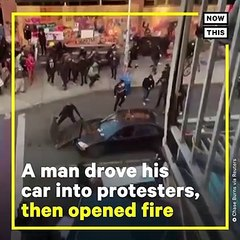 Anti-Protesters Are Driving Their Cars Into Crowds of De