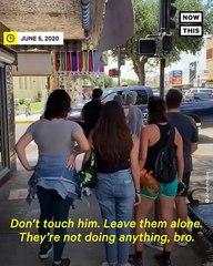 Disturbing Video Shows Texas Man Threatening Protesters wi