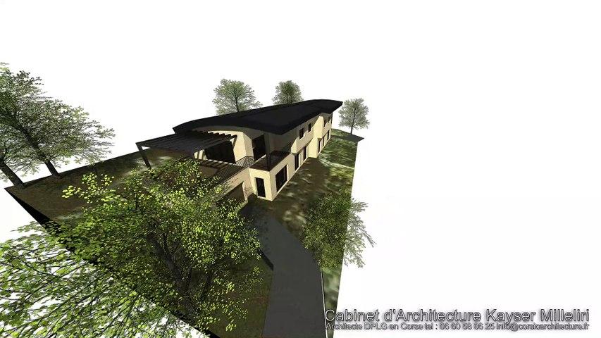 Résidence d'architecte contemporaine & écologique de standing de 4 appartements en Corse du Sud