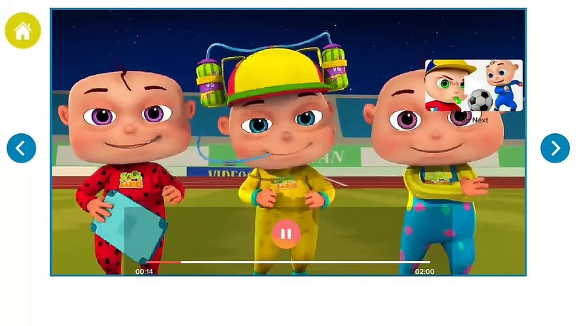 Kids Soccer Playing //animated video games //for kids