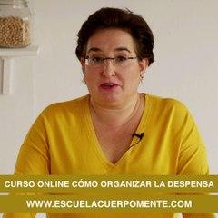 Curso online en la Escuela CuerpoMente ' Cómo organizar la despensa'
