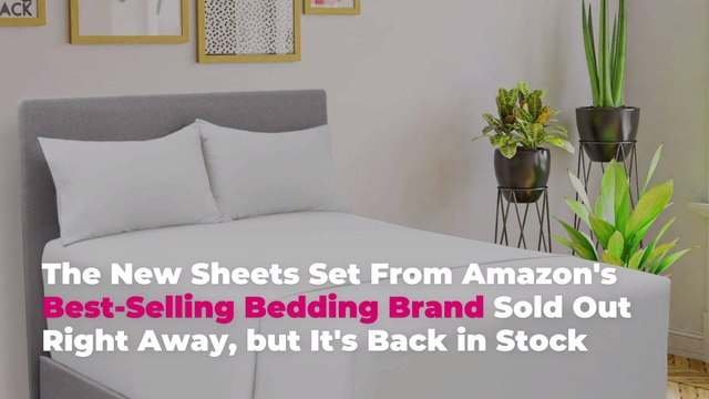 The New Sheets Set From Amazon's Best-Selling Bedding Brand Sold Out Right Away, but It's
