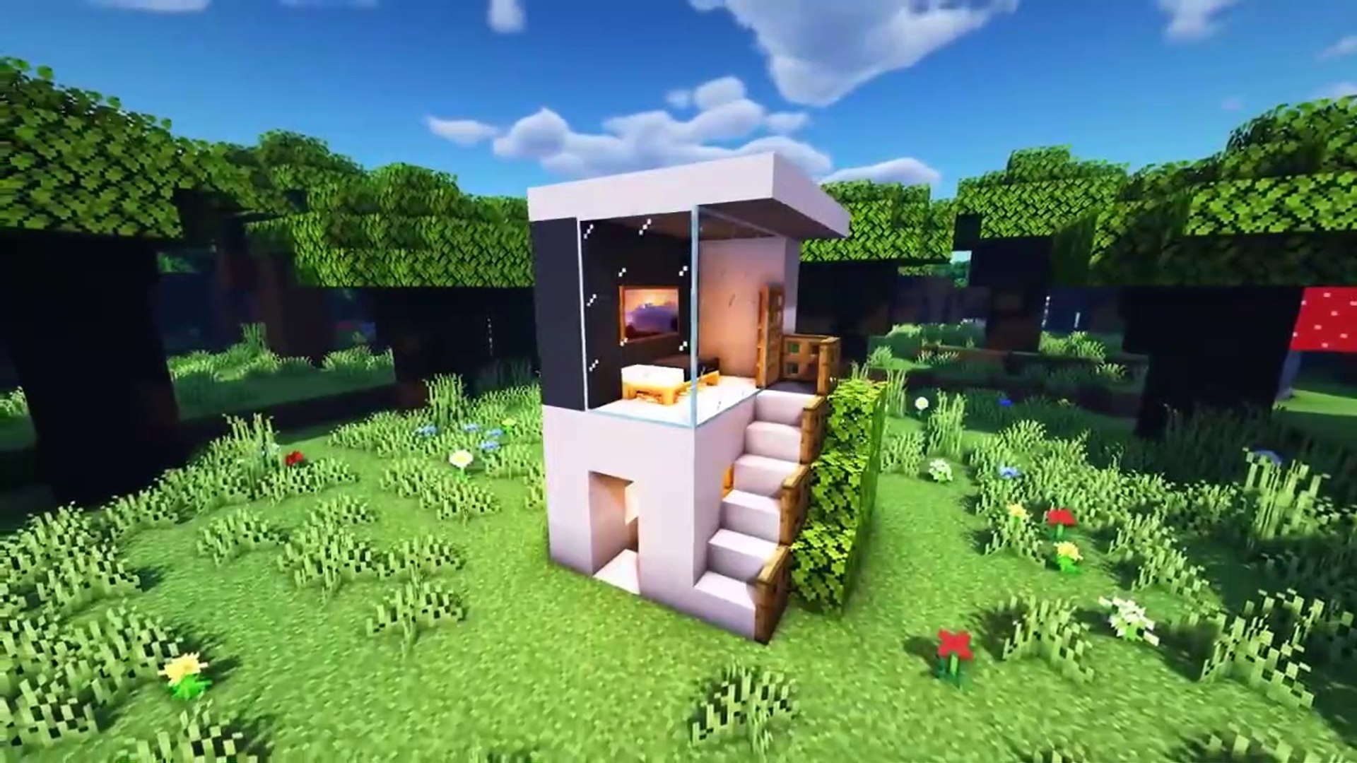 Minecraft Smallest Modern House How To Build A Cool Modern House Tutorial Minecraft Modern House Tutorial Video Dailymotion