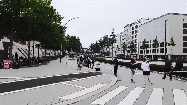 #indivisible in Hamburg #unteilbar (Aktion Menschenkette 14.06.2020)