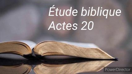 Étude biblique - Actes 20