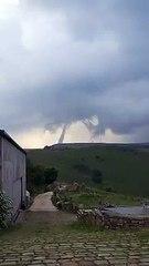 Huge tornado captured on video on the moors above Todmorden