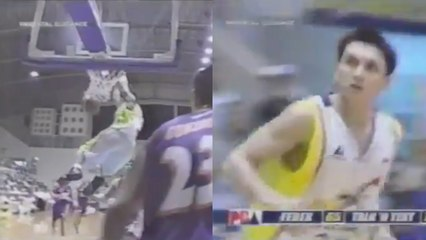 Jimmy Alapag with the first and only dunk of his career